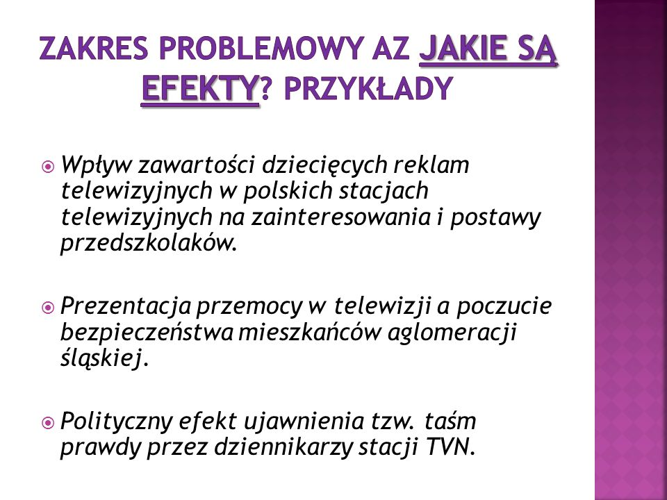 Wpływ zawartości dziecięcych reklam telewizyjnych w polskich stacjach telewizyjnych na zainteresowania i postawy przedszkolaków.
