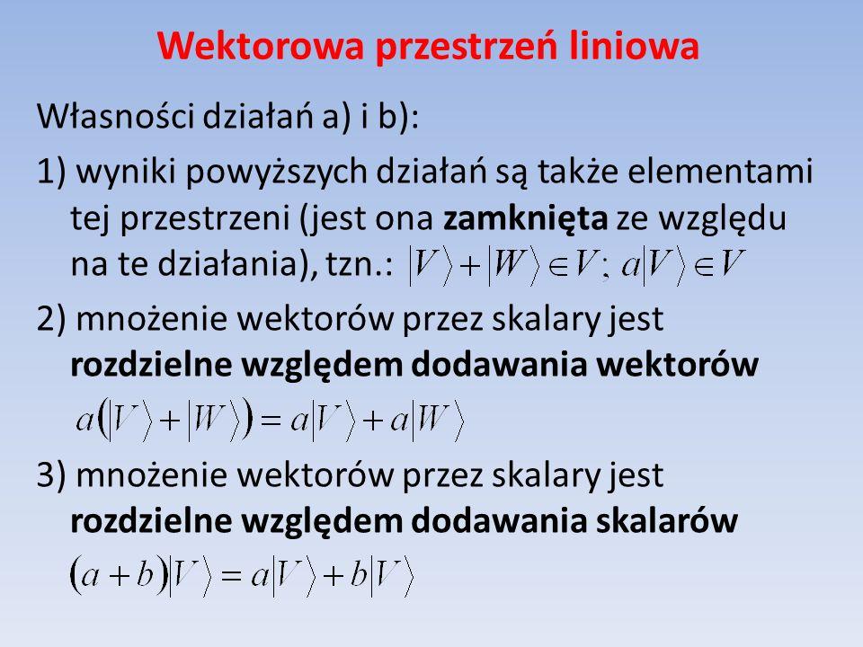 Twierdzenie Grama-Schmidta Mając dany zbiór n wektorów liniowo niezależnych tworzących bazę można z niego utworzyć bazę ortonormalną.