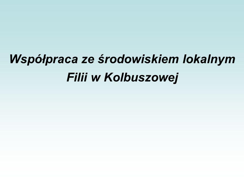 Współpraca ze środowiskiem lokalnym Filii w Kolbuszowej