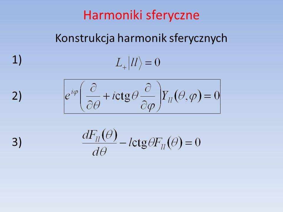 Harmoniki sferyczne Konstrukcja harmonik sferycznych 1) 2) 3)