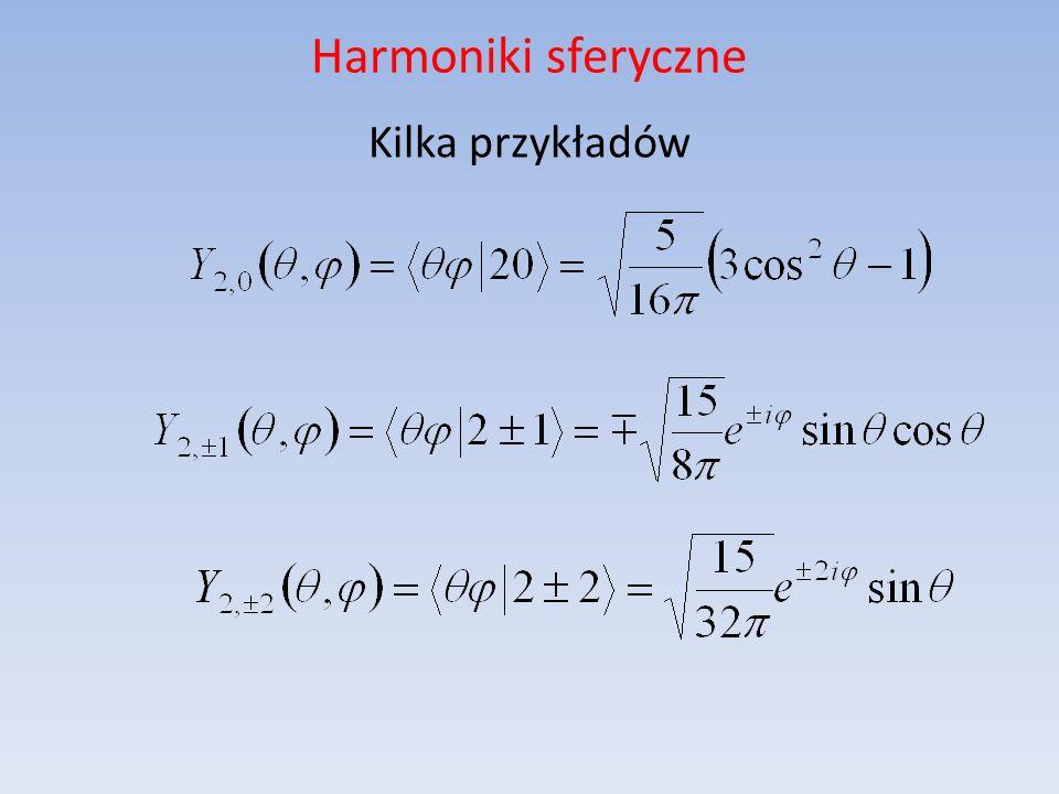 Harmoniki sferyczne Kilka przykładów