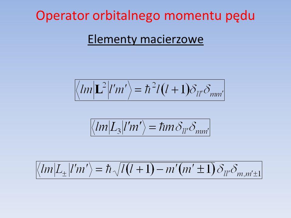 Zagadnienie własne omp Żądanie, aby liczba kwantowa m była liczbą całkowitą wynika z żądania niezmienniczości układu fizycznego przy obrotach o kąt 2.