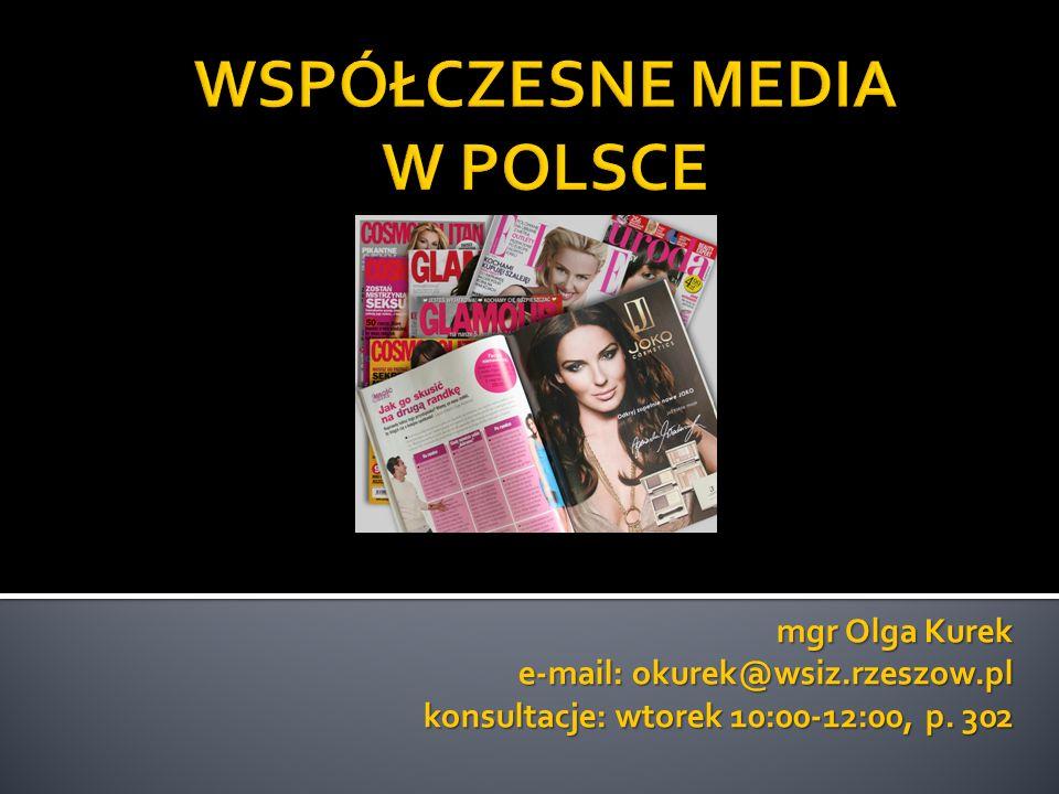 mgr Olga Kurek e-mail: okurek@wsiz.rzeszow.pl konsultacje: wtorek 10:00-12:00, p. 302