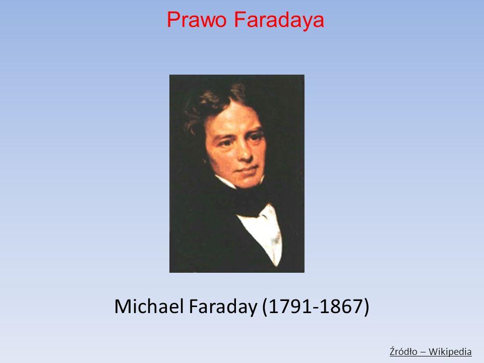 Michael Faraday (1791-1867) Źródło – Wikipedia Prawo Faradaya