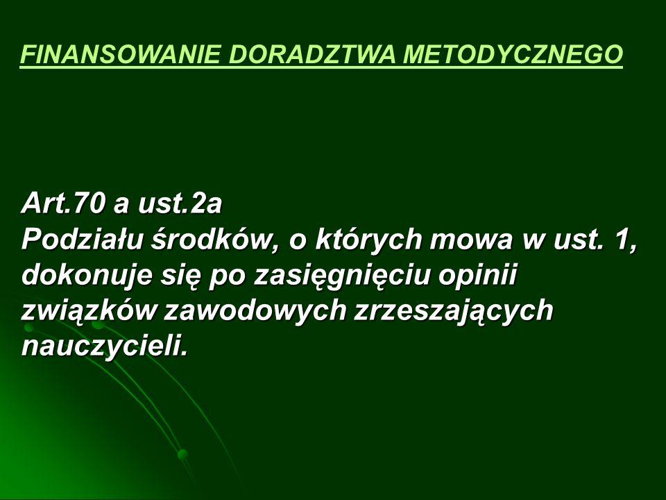 § 7 Rozporządzenia Ministra Edukacji Narodowej i Sportu z dnia 29 marca 2002 roku w sprawie sposobu podziału środków ……..