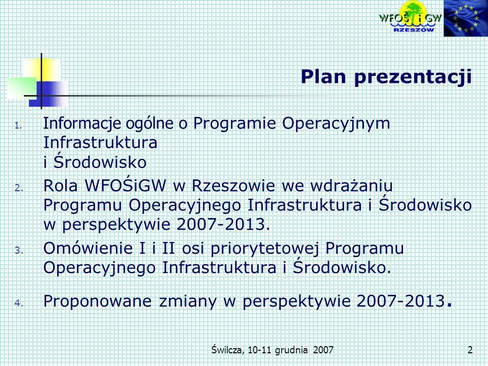 Świlcza, 10-11 grudnia 20072 Plan prezentacji 1.