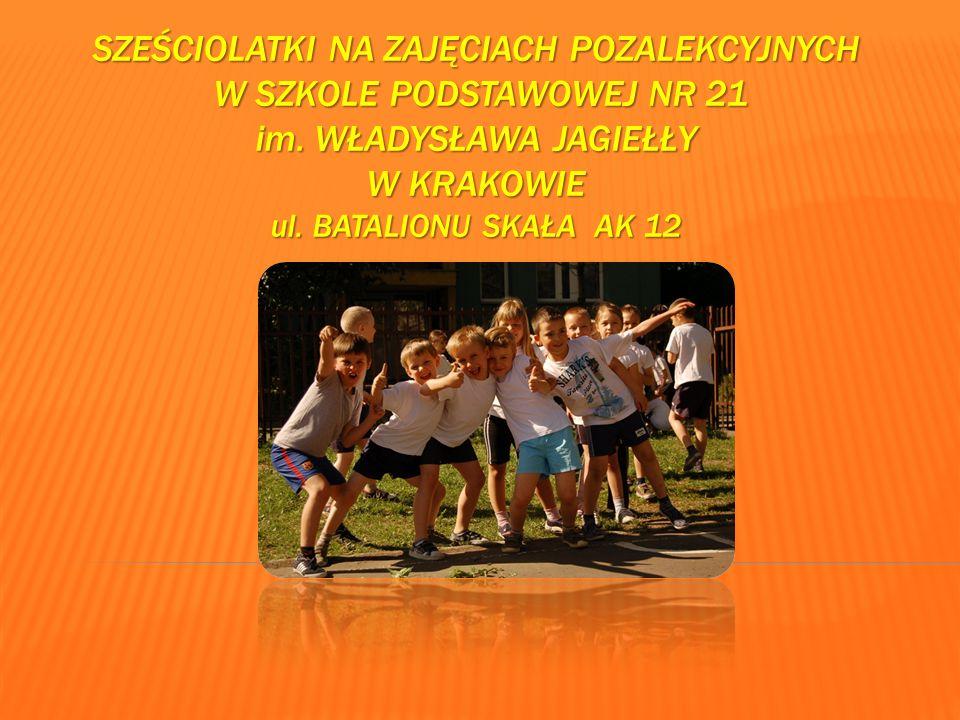 SZEŚCIOLATKI NA ZAJĘCIACH POZALEKCYJNYCH W SZKOLE PODSTAWOWEJ NR 21 im.
