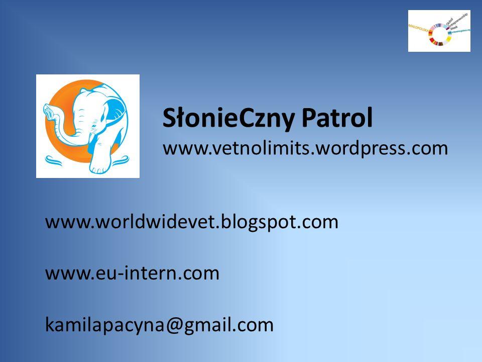SłonieCzny Patrol www.vetnolimits.wordpress.com www.worldwidevet.blogspot.com www.eu-intern.com kamilapacyna@gmail.com