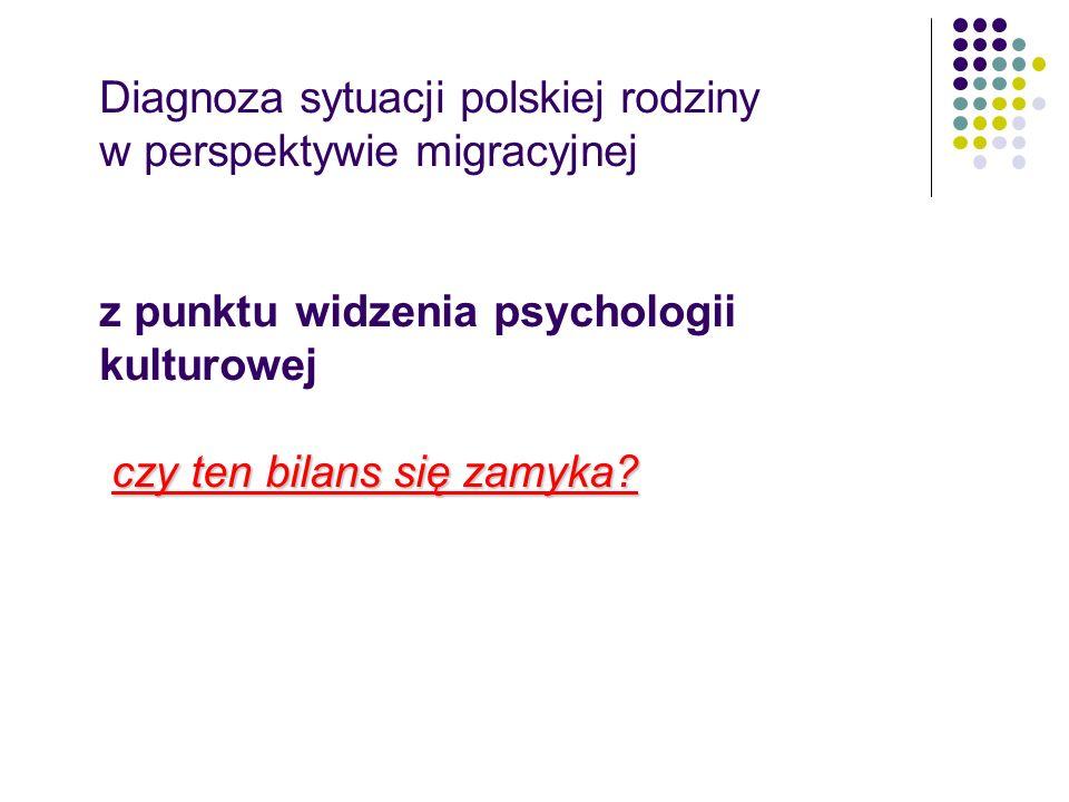 Współczesna zmiana kontekstu funkcjonowania polskiej rodziny Przejście od homogeniczności do heterogeniczności kulturowej kontekstu funkcjonowania Przejście od stacjonarnego do mobilnego sposobu funkcjonowania (rodziny wyjeżdżające i rodziny powracające)