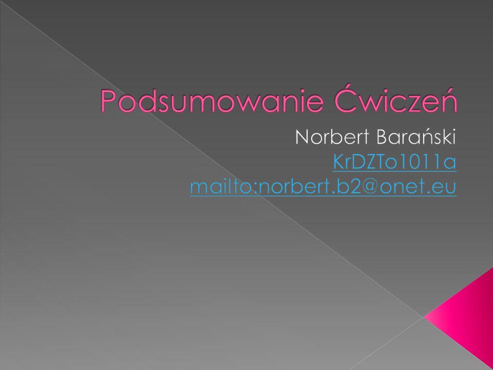 Nazywam sie Norbert Baranski, mam 19 lat i od urodzenia mieszkam w Krakowie.Studiuje Towaroznawstwo na Uniwersytecie Ekonomicznym w tymze pieknym miescie.Moje zainteresowania zmiezaja w wielu kierunkach, choc najbardziej interesuje sie sportem.