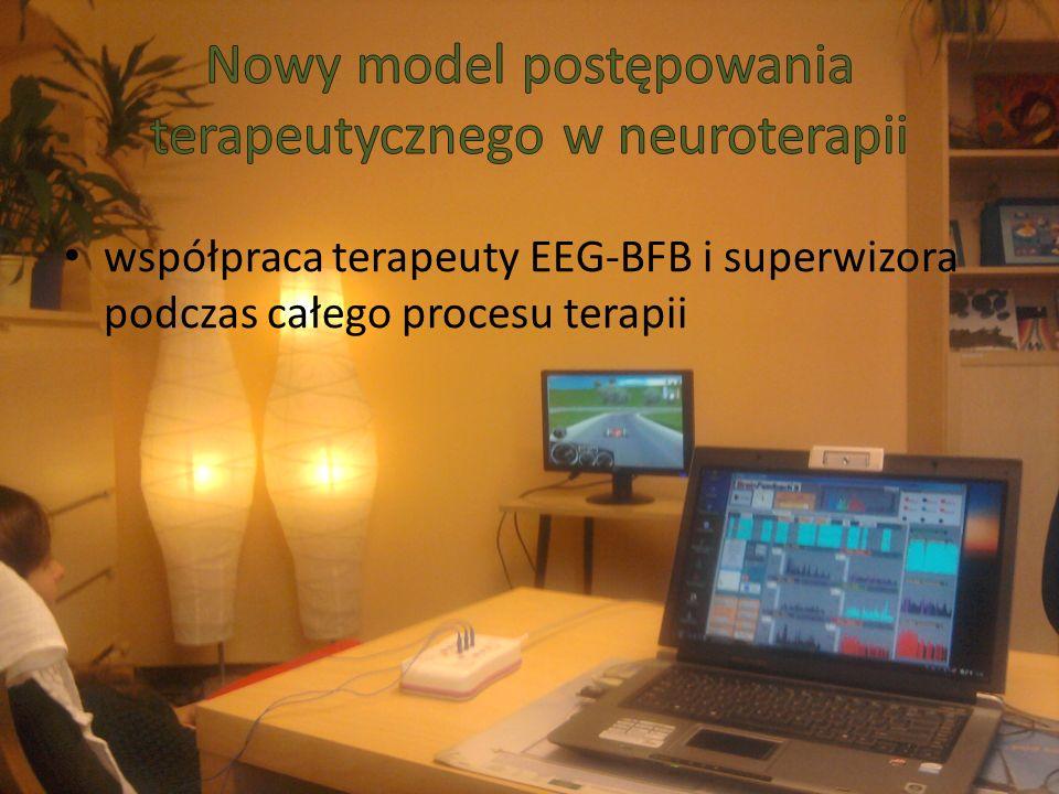 współpraca terapeuty EEG-BFB i superwizora podczas całego procesu terapii