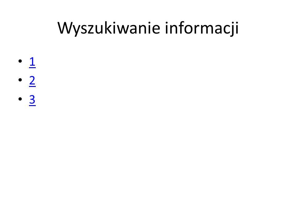 Wyszukiwanie informacji 1 2 3