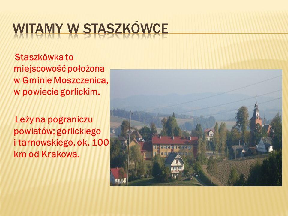 Staszkówka to miejscowość położona w Gminie Moszczenica, w powiecie gorlickim. Leży na pograniczu powiatów; gorlickiego i tarnowskiego, ok. 100 km od
