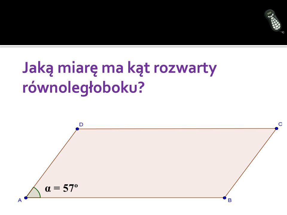α = 57º