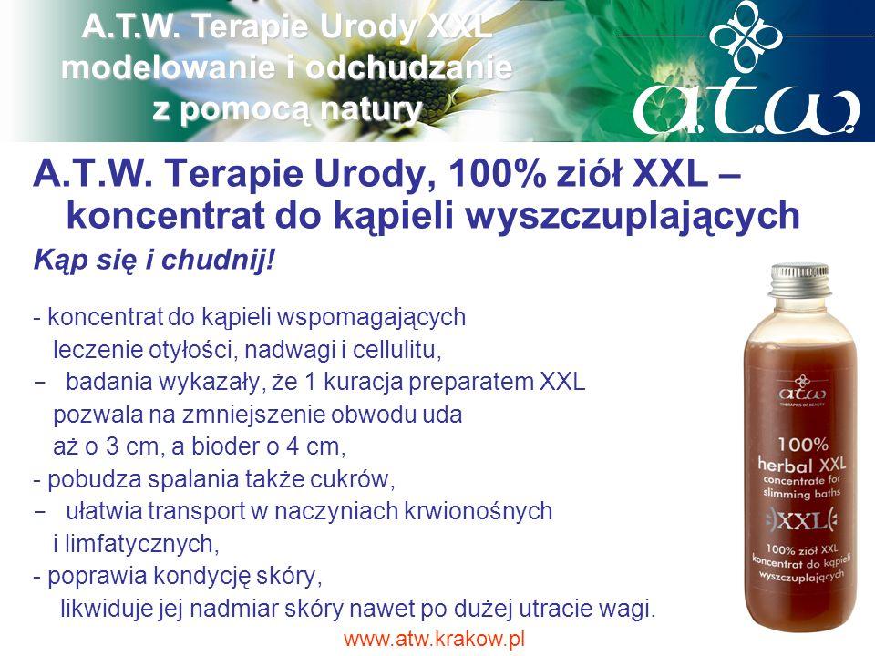 A.T.W. Terapie Urody, 100% ziół XXL – koncentrat do kąpieli wyszczuplających Kąp się i chudnij! - koncentrat do kąpieli wspomagających leczenie otyłoś