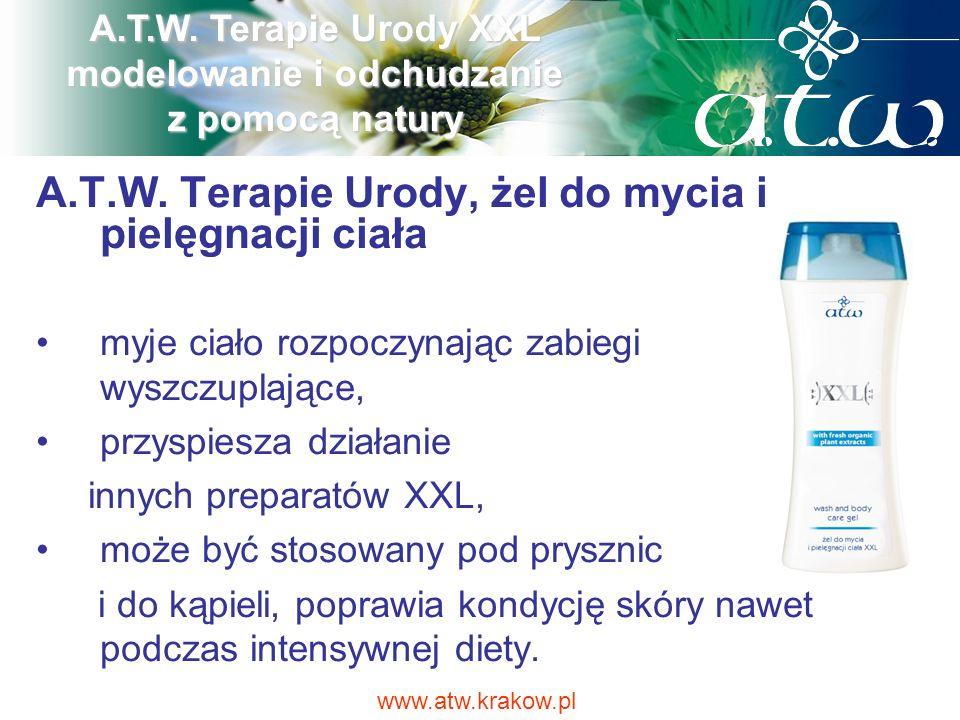 A.T.W. Terapie Urody, żel do mycia i pielęgnacji ciała myje ciało rozpoczynając zabiegi wyszczuplające, przyspiesza działanie innych preparatów XXL, m