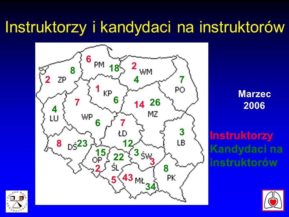 Instruktorzy i kandydaci na instruktorów Marzec 2006 43 Instruktorzy Kandydaci na instruktorów 34 22 15 2 823 6 7 2 8 18 4 6 7 14 26 3 6 7 5 12 3 4 2 8 3 1