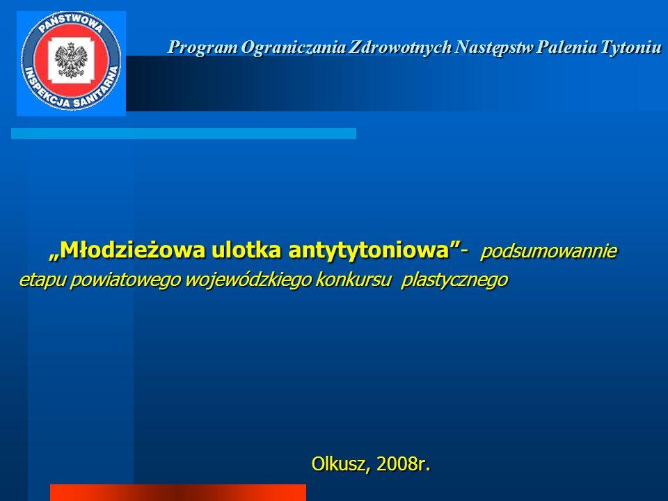 Program Ograniczania Zdrowotnych Następstw Palenia Tytoniu Młodzieżowa ulotka antytytoniowa- podsumowannie etapu powiatowego wojewódzkiego konkursu pl