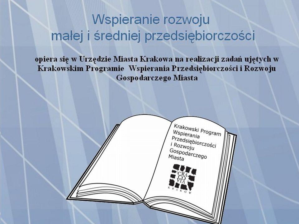 Wspieranie rozwoju małej i średniej przedsiębiorczości opiera się w Urzędzie Miasta Krakowa na realizacji zadań ujętych w Krakowskim Programie Wspierania Przedsiębiorczości i Rozwoju Gospodarczego Miasta