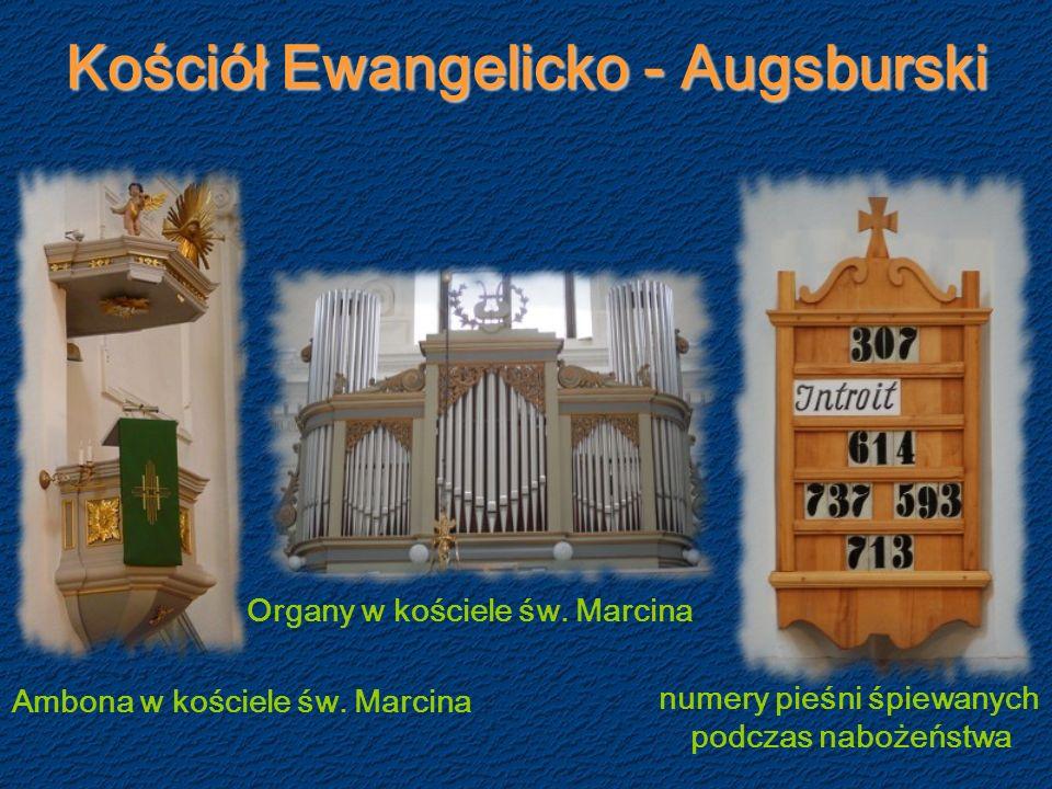Kościół Ewangelicko - Augsburski Ambona w kościele św.
