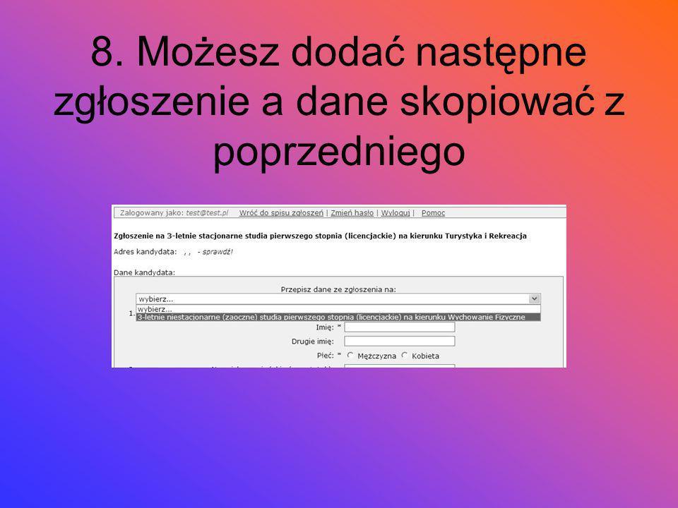 7. Sprawdź formularz i ew. popraw U góry zobaczysz komunikaty o błędach (lub ich braku); poniżej swój adres – taki jak będzie na kopercie. Jeśli wszys