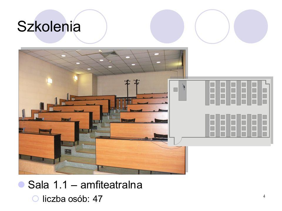 4 Szkolenia Sala 1.1 – amfiteatralna liczba osób: 47