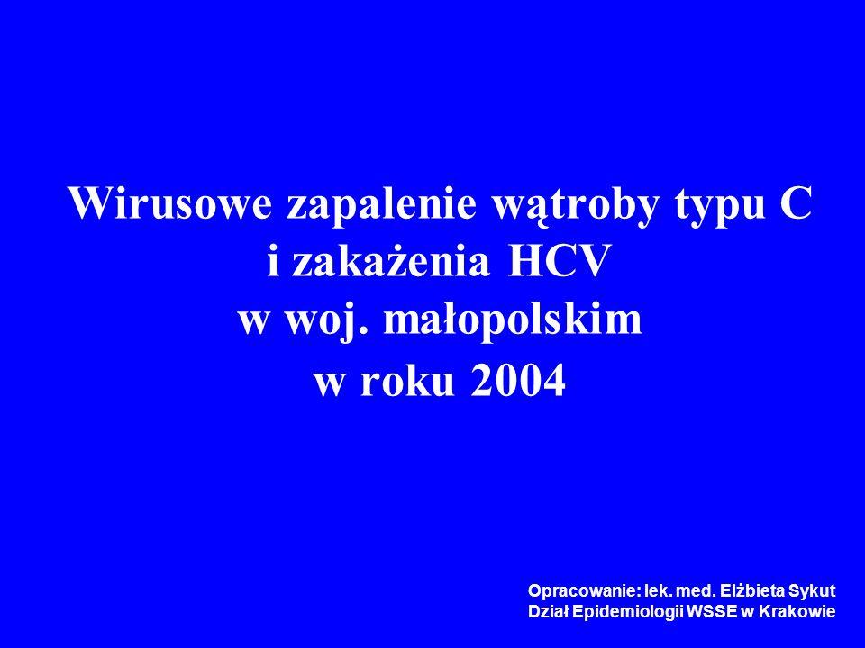 Wirusowe zapalenie wątroby typu C i zakażenia HCV w woj.