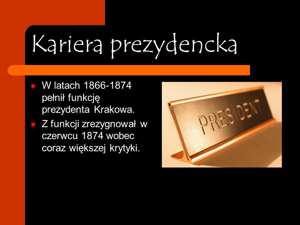 Profesor Dietl W 1851 objął stanowisko profesora i kierownika Katedry Medycyny Wewnętrznej i Kliniki Lekarskiej Uniwersytetu Jagiellońskiego. W czerwc