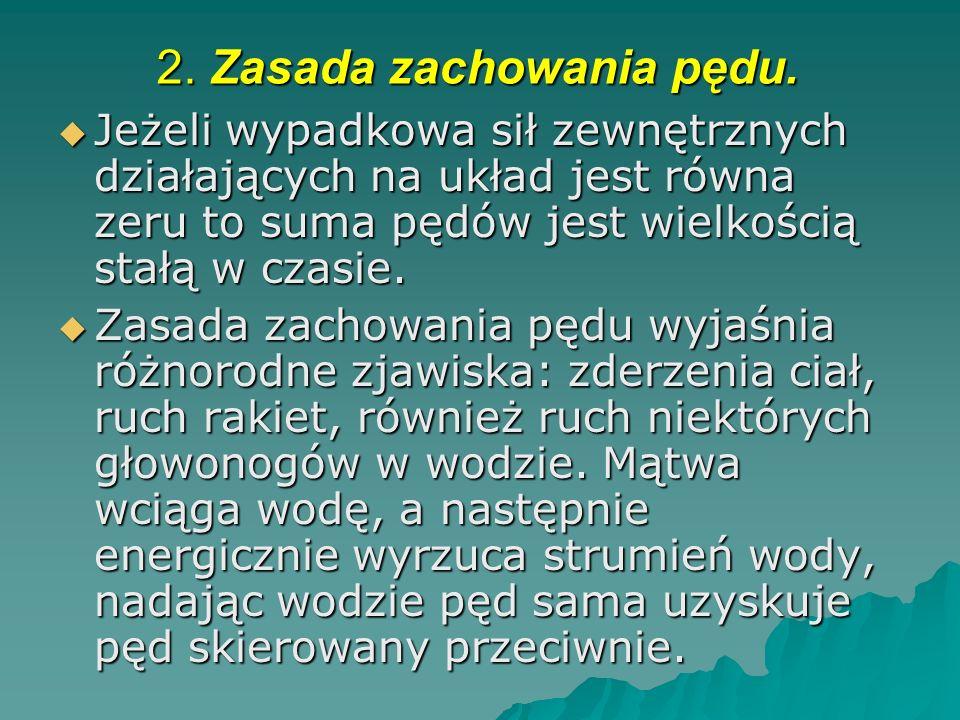 2.Zasada zachowania pędu.