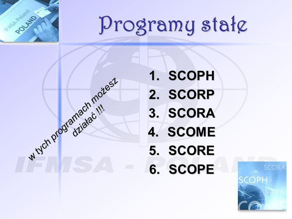 Programy stałe 1.SCOPH 2.SCORP 3.SCORA 4.SCOME 5.SCORE 6.SCOPE w tych programach możesz działać !!!