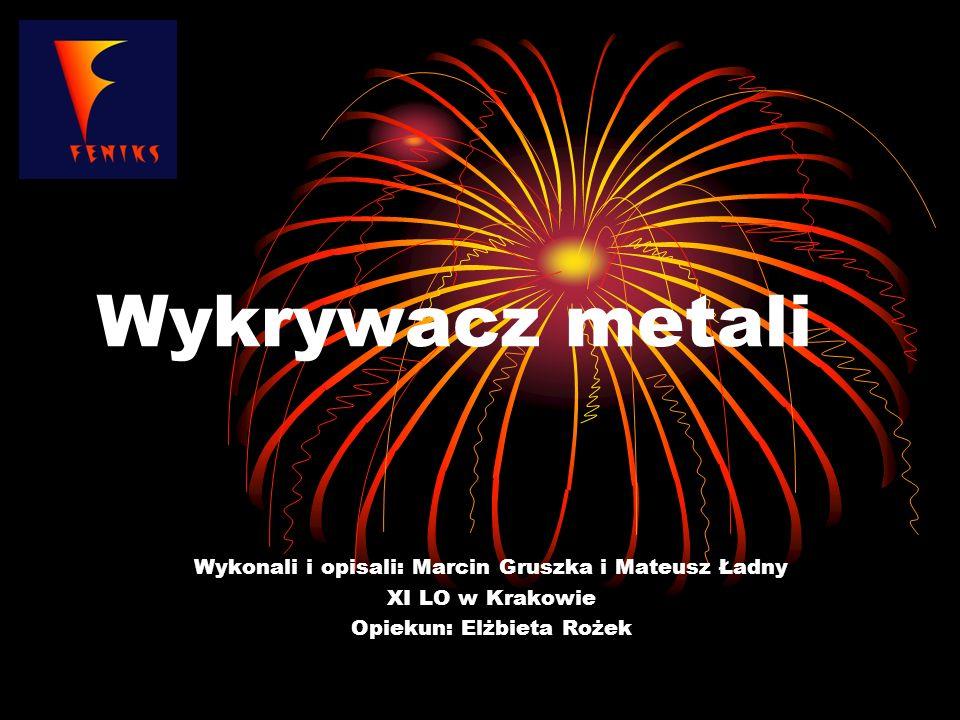 Wykrywacz metali Wykonali i opisali: Marcin Gruszka i Mateusz Ładny XI LO w Krakowie Opiekun: Elżbieta Rożek