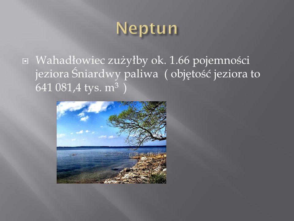 Wahadłowiec zużyłby ok. 1.66 pojemności jeziora Śniardwy paliwa ( objętość jeziora to 641 081,4 tys. m 3 )