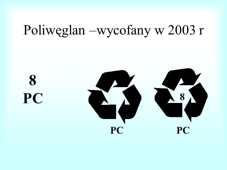 Znak inne tworzywa sztuczne i laminaty folie z tworzyw sztucznych – wycofany w 2003 r 7 INNE OTHER 7