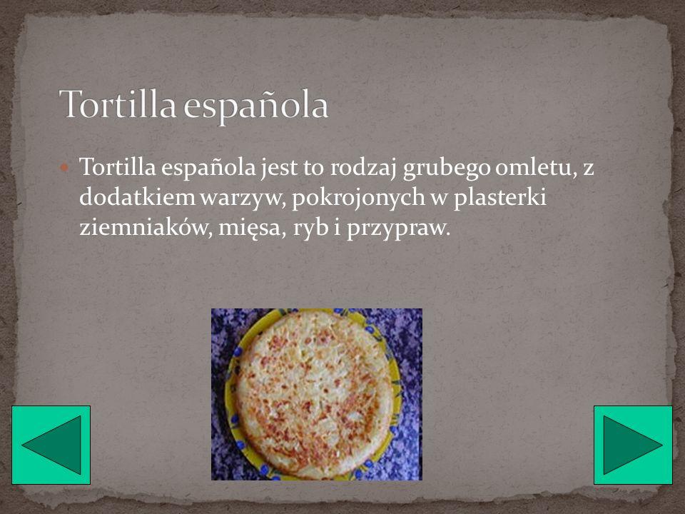 Fabada jest to rodzaj potrawy z fasoli, w której skład wchodzi min. fasola, kiełbasa, papryka, cebula, czosnek.