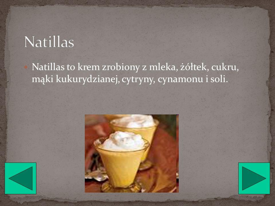 Flan to rodzaj puddingu składającego się z wody, cukru pudru, skórki pomarańczowej, jaj, mleka i likieru.