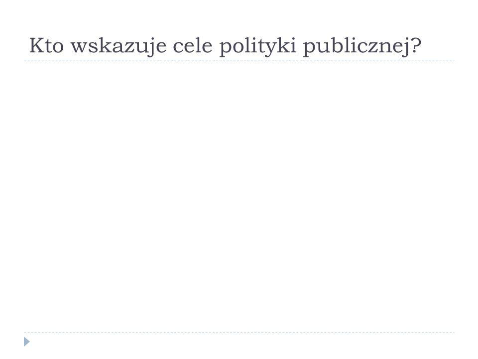 Kto wskazuje cele polityki publicznej?