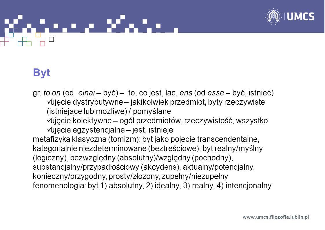 Stosunek wyższych systemów do niższych www.umcs.filozofia.lublin.pl stosunek układów wyższych do niższych redukcjonizm prymitywnywyrafinowany antyredukcjonizm