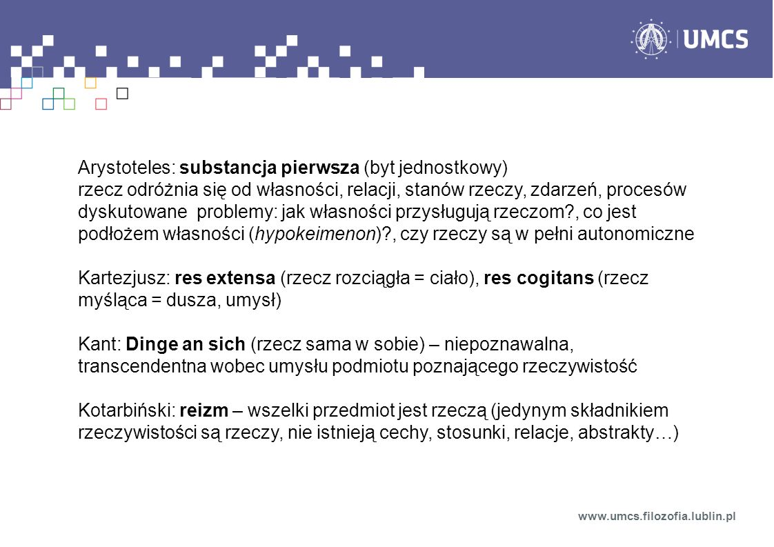Substancja (gr.ousia, łac.