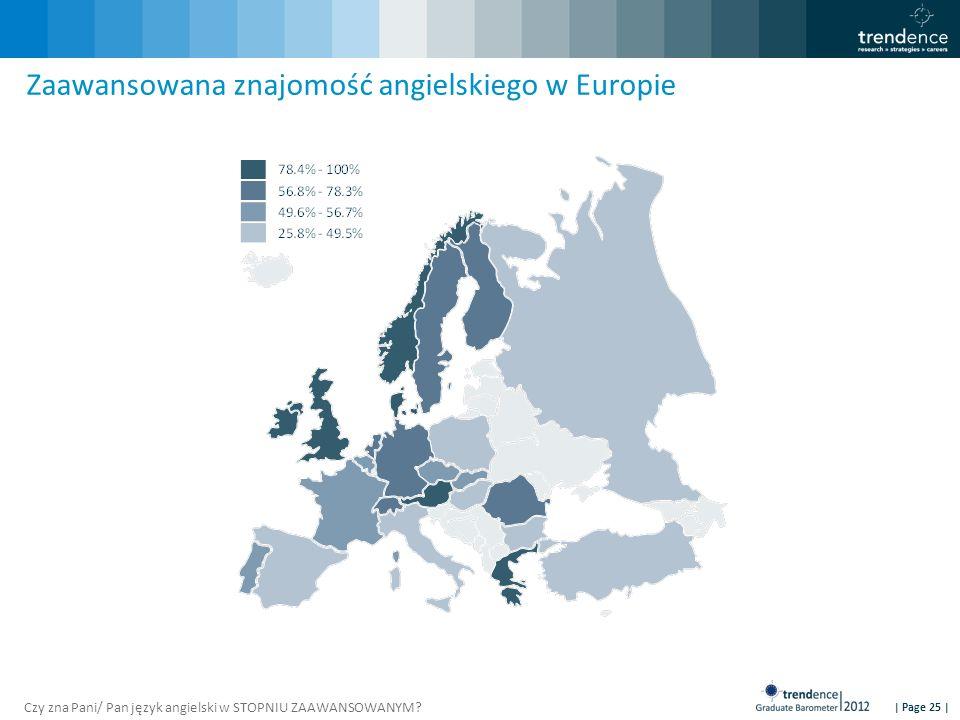 | Page 25 | Zaawansowana znajomość angielskiego w Europie Czy zna Pani/ Pan język angielski w STOPNIU ZAAWANSOWANYM