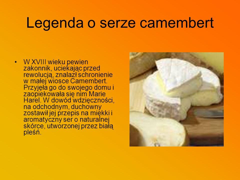Legenda o serze Roquefort Jak mówi inna legenda, dawno temu w jednej z pieczar w Roquefort zatrzymał się pastuszek, żeby zjeść kawałek chleba z serem.