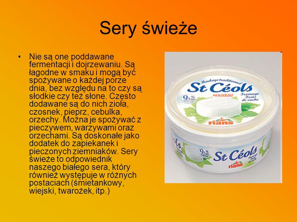 Sery topione Są to sery porcjowane, w plasterkach, naturalne oraz w różnych smakach.