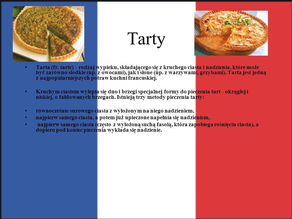 Tarty Tarta (fr. tarte) - rodzaj wypieku, składającego się z kruchego ciasta i nadzienia, które może być zarówno słodkie (np. z owocami), jak i słone