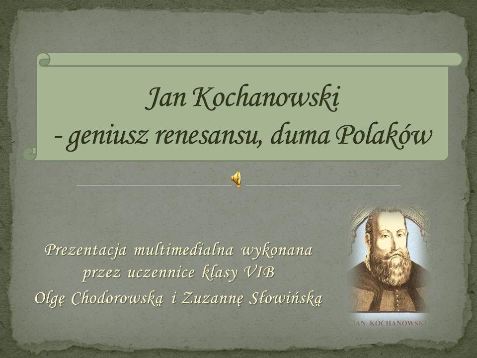 Prezentacja multimedialna wykonana przez uczennice klasy VIB Olgę Chodorowską i Zuzannę Słowińską