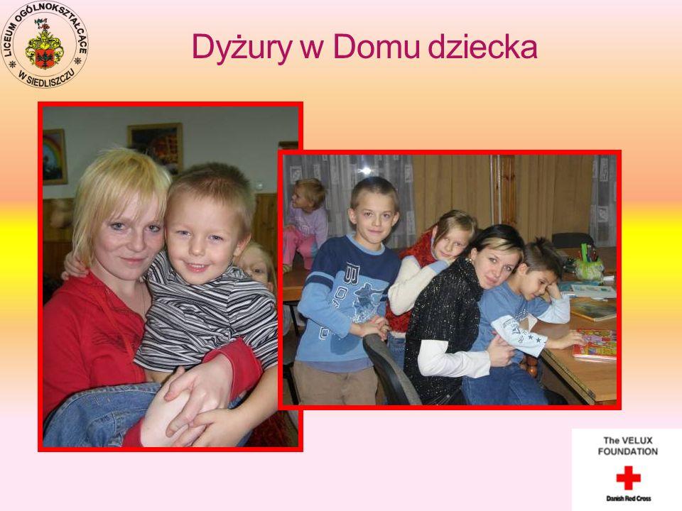 Dyżury w Domu dziecka