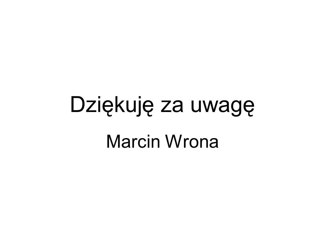 Dziękuję za uwagę Marcin Wrona