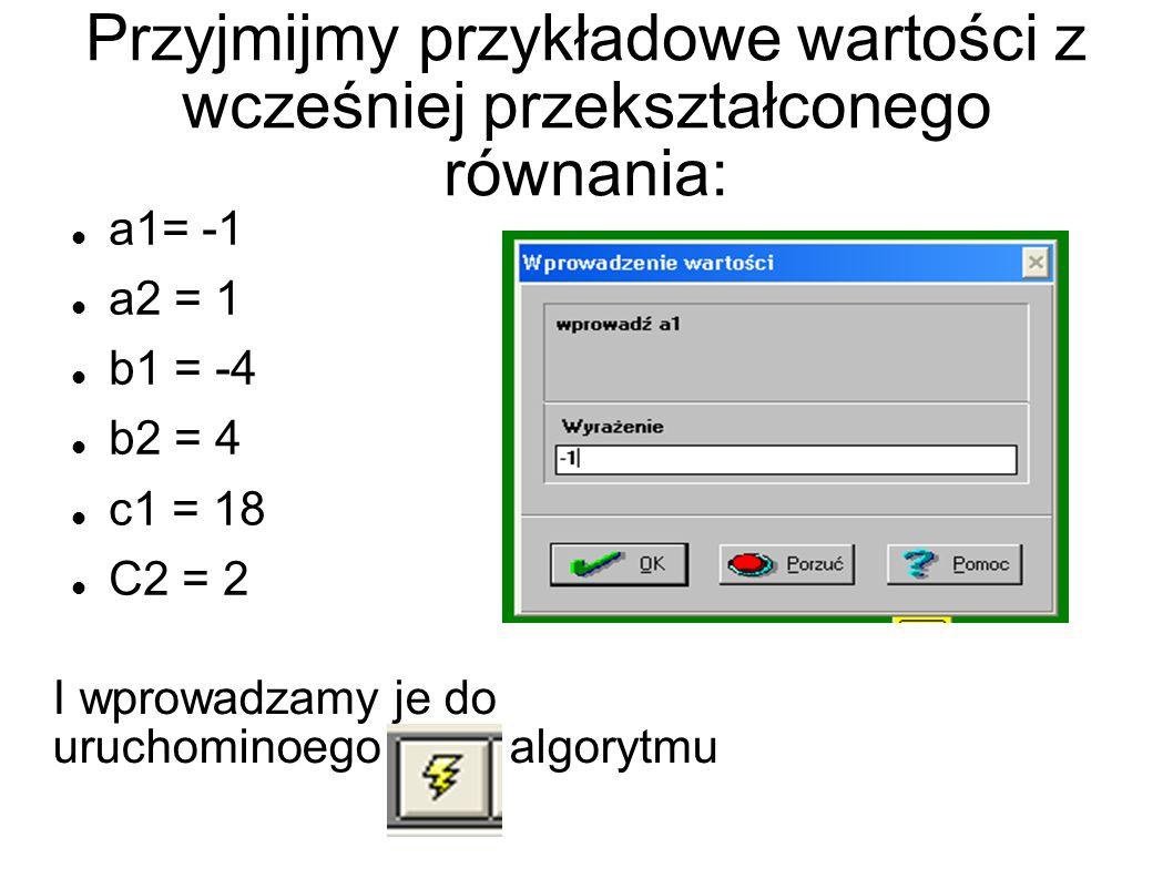 Następnie komputer wszystko automatycznie obliczy i wyświetli czy: Układ jest Oznaczony Układ jest Nieoznaczony Układ jest Sprzeczny W przypadku liczb, które wprowadziliśmy wcześniej układ jest sprzeczny.