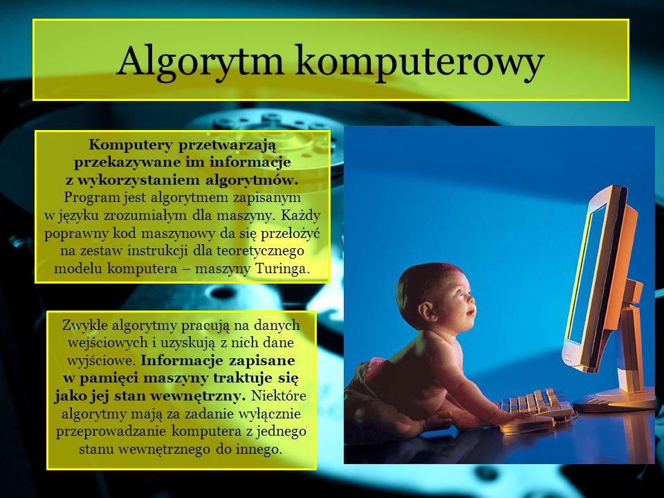 Każdy algorytm komputerowy musi być wprowadzony do komputera w bardzo rygorystycznie zdefiniowanym języku.