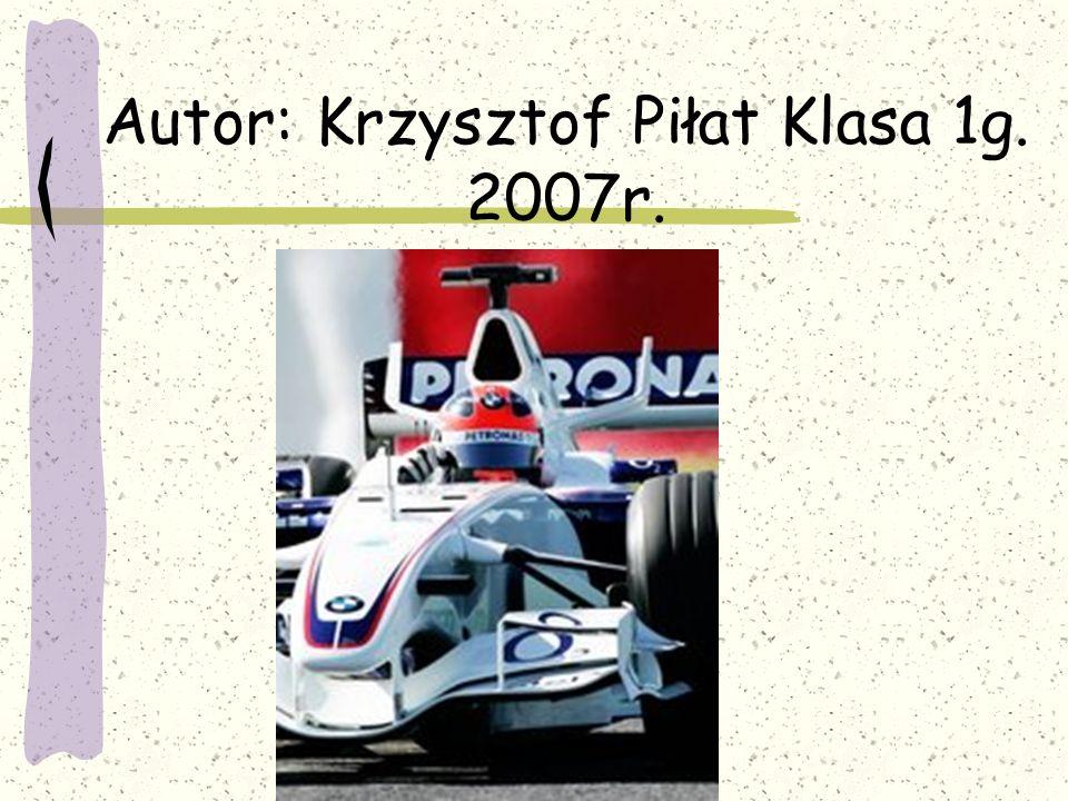 Autor: Krzysztof Piłat Klasa 1g. 2007r.