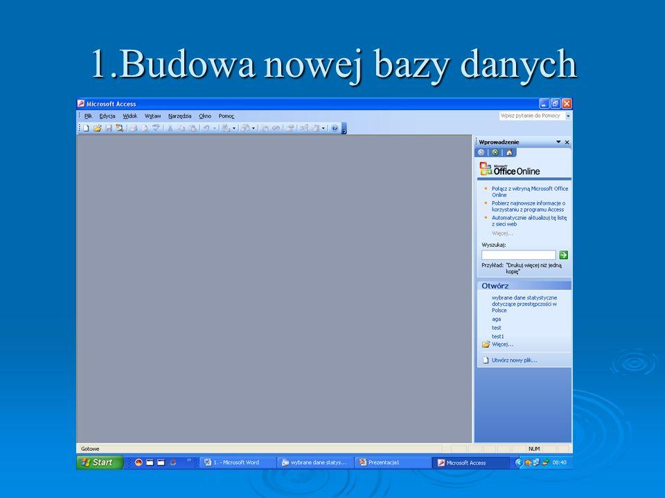 3.Tworzenie raportów służących do prezentacji danych na wydruku