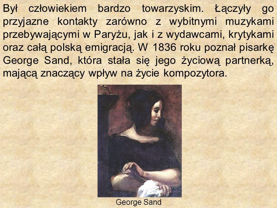 Od 1839 roku stan zdrowia chorego na gruźlicę Chopina pogarszał się z każdym rokiem.